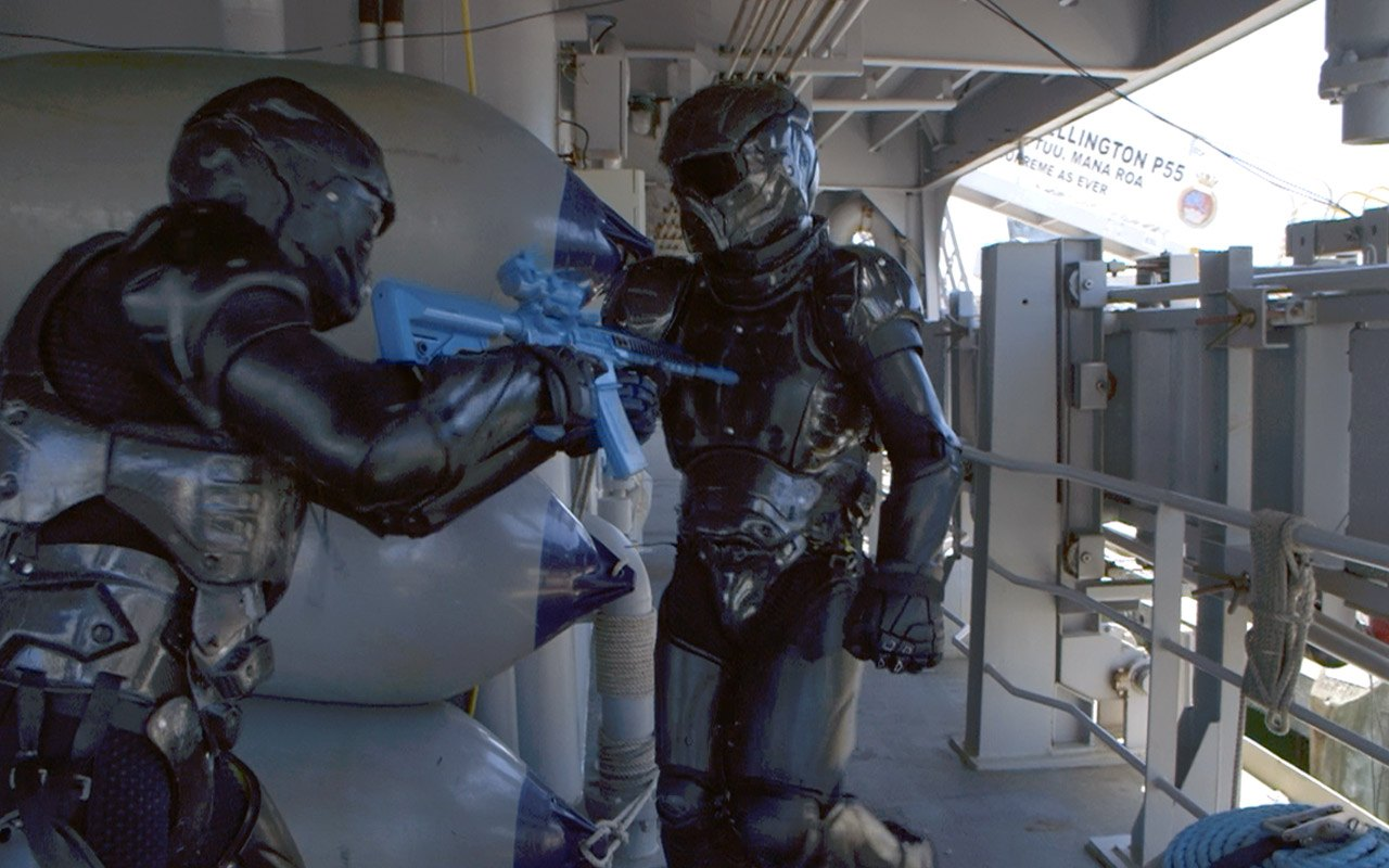 NZ Navy boarding parties test the  Chiron-X1™ armour