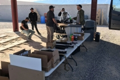 Force Ordnance's Mark Nicholson and Silencerco's camera crew get set up at the Frontsight range, January 2019