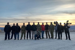 Kinetic Fighting, Force Ordnance and partners with the camera crew in the Nevada desert, January 2019