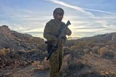 Paul Cale, KEF CEO, doing tactical scenario training at Nevada's Frontsight range, January 2019