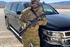 Paul Cale is 'back on the tools' at the Frontsight range, Nevada