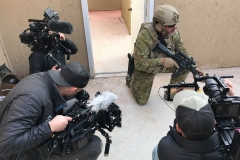 Reece Dewar goes through a mock special operations house-clearing exercise