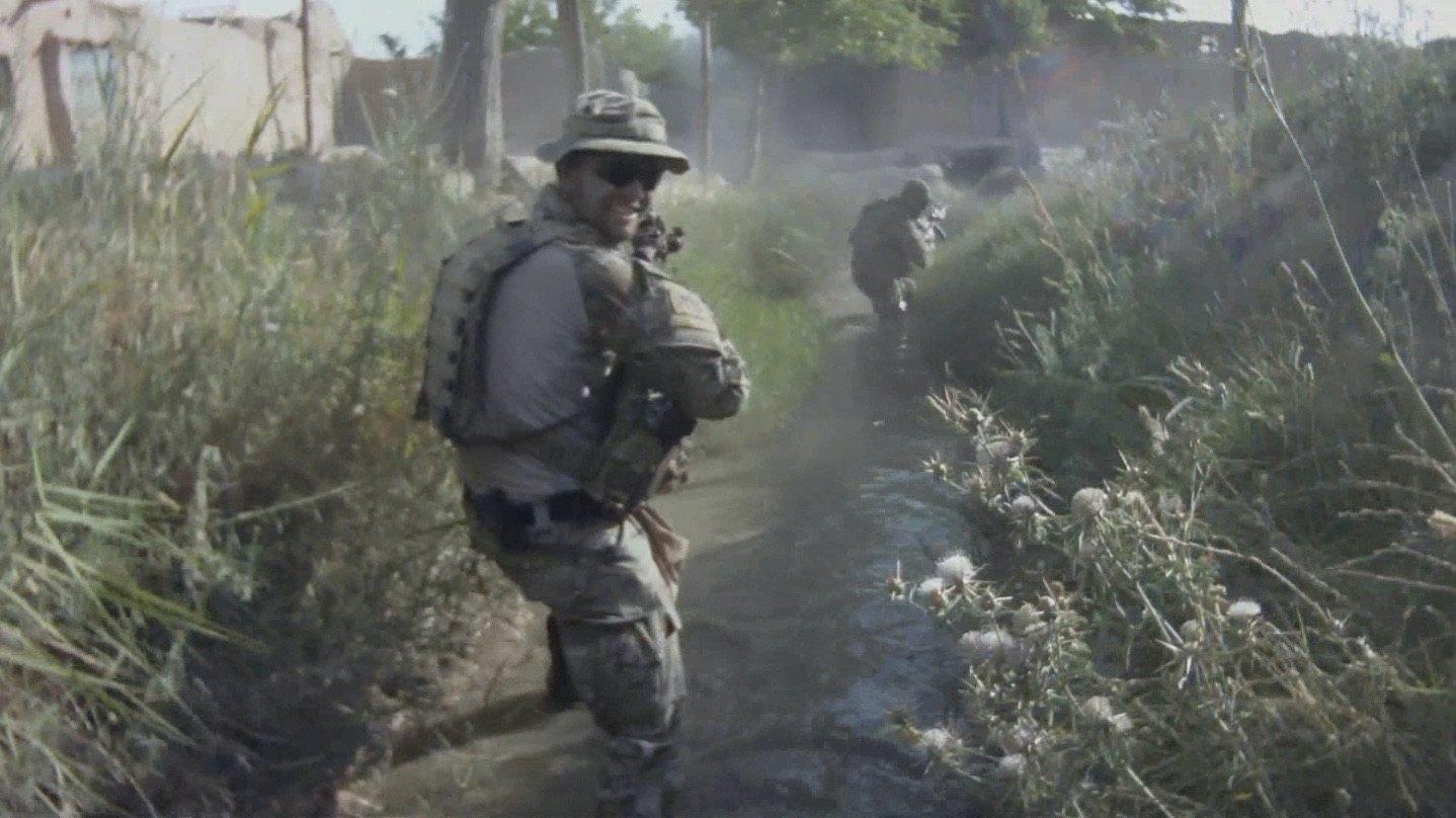 SGT Brett Wood on patrol in Afghanistan