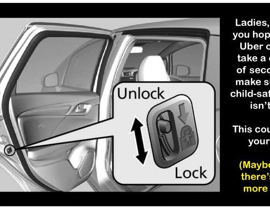 Uber child safety lock