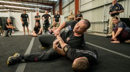 KEF–IC Combatives Master Trainer Geordie Lavers-McBain, knife groundfighting