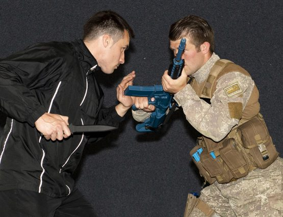 NZ Army combatives instructors demonstrating ACP